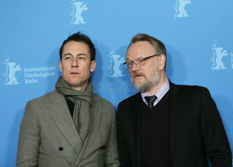 Jared Harris en Tobias Menzies royalty-vrije stock afbeeldingen