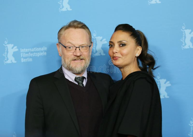 Jared Harris and his wife Allegra Riggio. Attending the `The Terror` premiere during the 68th Berlin International Film Festival / Berlinale 2018 at Zoo Palast royalty free stock photography