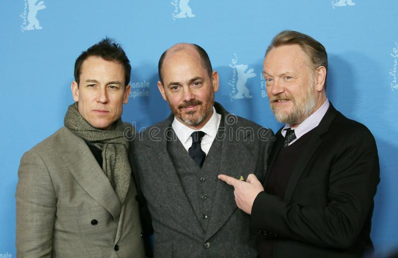Jared Harris, Tobias Menzies attending the `The Terror`. Jared Harris, Tobias Menzies, Edward Berger attending the `The Terror` premiere during the 68th Berlin royalty free stock image
