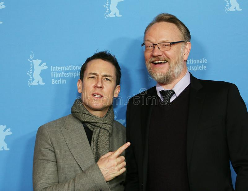 Jared Harris and Tobias Menzies. Attending the `The Terror` premiere during the 68th Berlin Film Festival / Berlinale 2018 at Zoo Palast on February 21, 2018 in royalty free stock photography