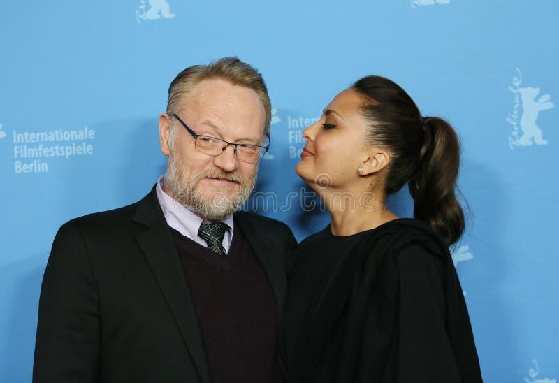 Jared Harris und seine Frau Allegra Riggio lizenzfreie stockfotos