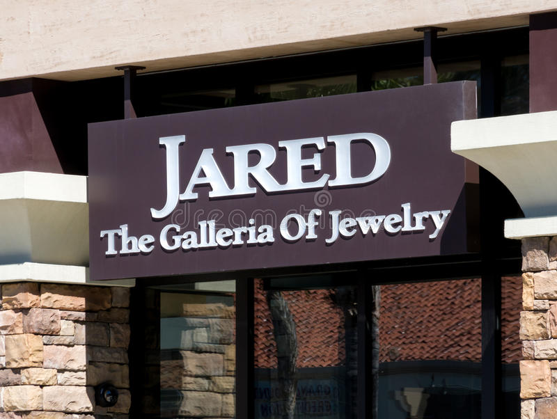 Jared Jewelry Store Exterior e logotipo fotografia de stock royalty free
