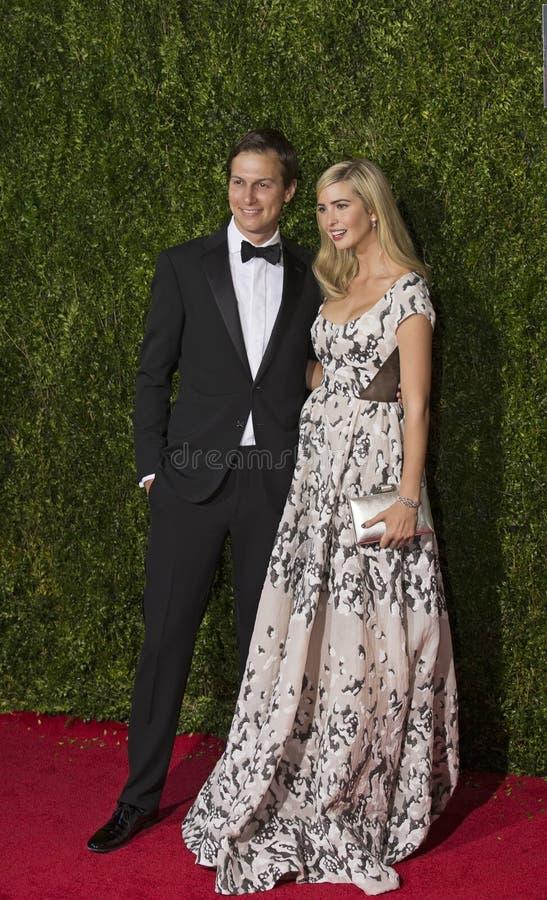 Jared Kushner e Ivanka Trump em Tony Awards 2015 fotos de stock