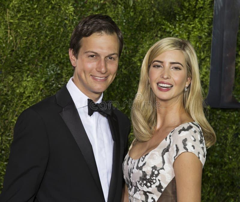 Jared Kushner och Ivanka Trump på Tony Awards 2015 royaltyfri bild