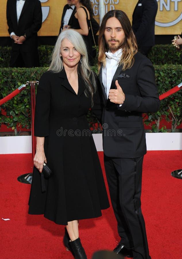 Jared Leto et Constance Leto photographie stock