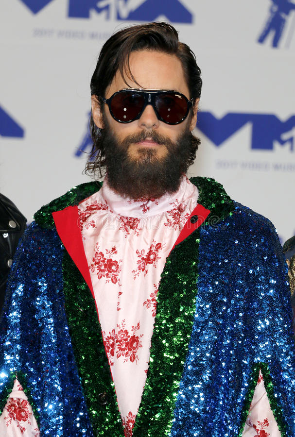 Jared Leto. At the 2017 MTV Video Music Awards held at the Forum in Inglewood, USA on August 27, 2017 stock images