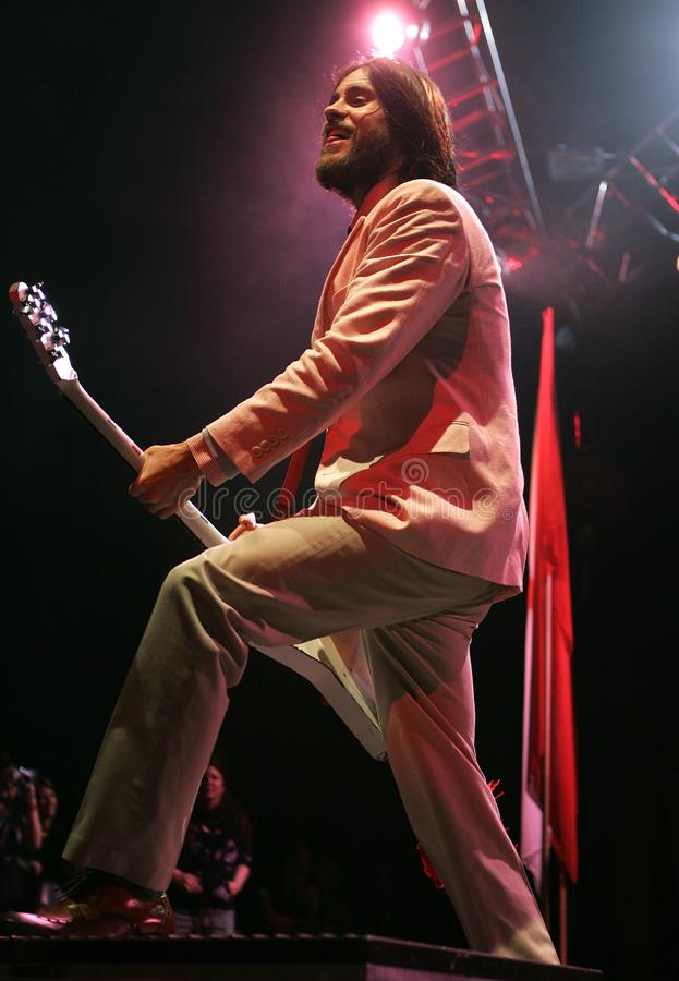 Jared Leto performs in concert royalty free stock photos