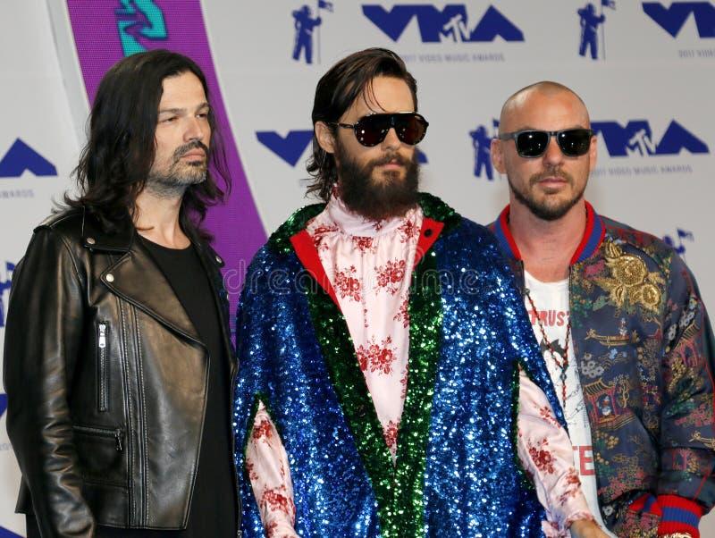 Jared Leto, Shannon Leto Milicevic i Tomo Trzydzieści sekund Mars, fotografia royalty free