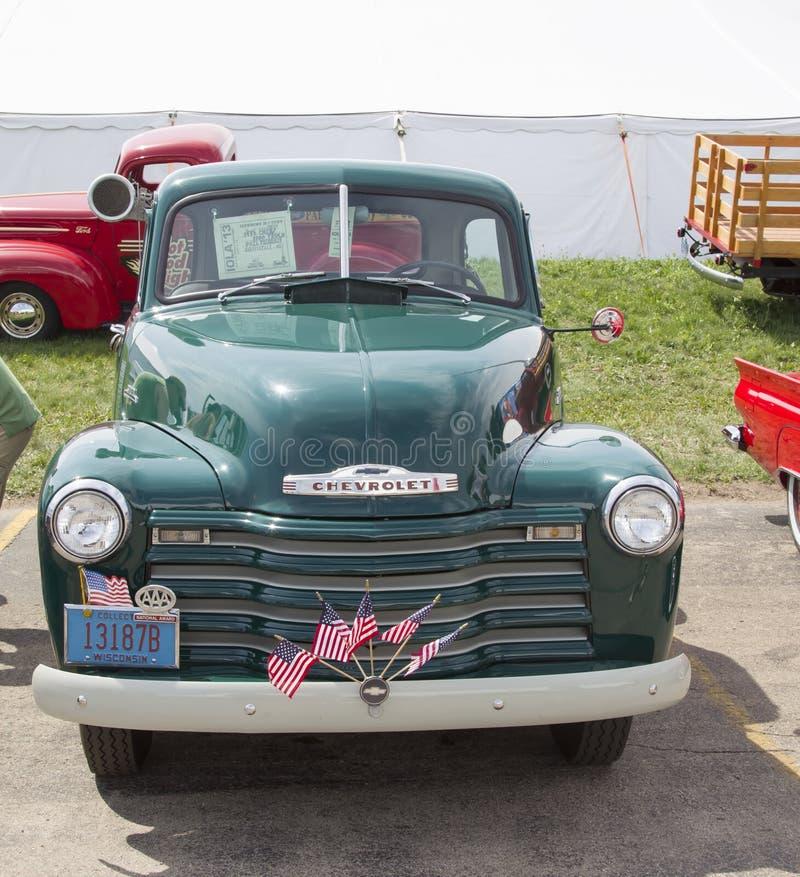 jaren '50 Chevy Pickup Truck stock foto's