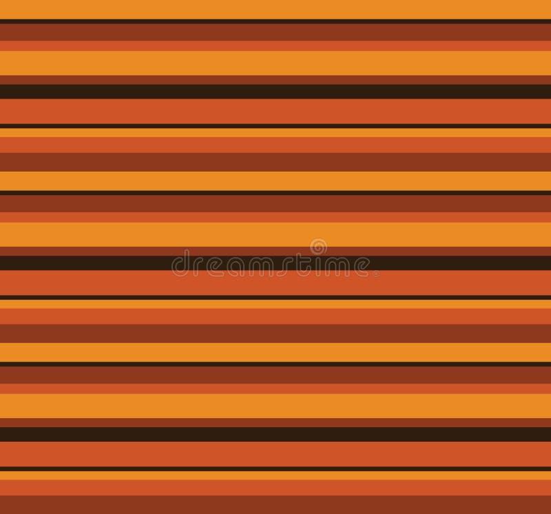 jaren '70 Retro Autumn Pattern royalty-vrije illustratie