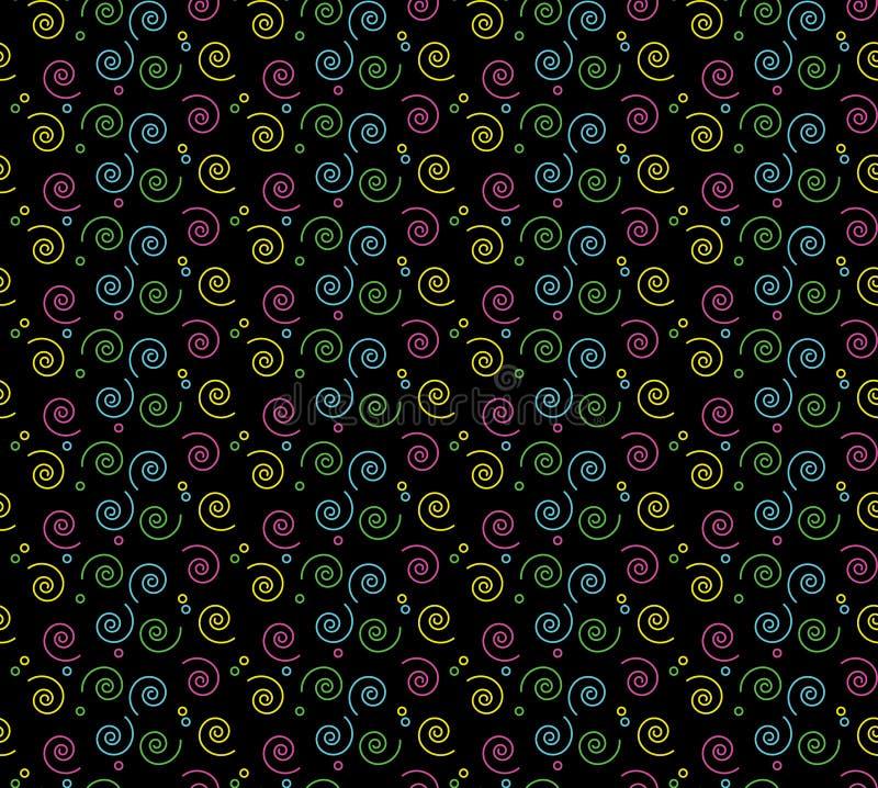 jaren '90 Retro Spiraalvormig Patroon stock illustratie