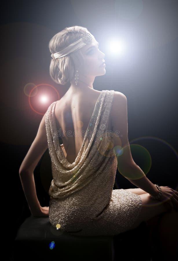 jaren '20stadium starlett in sexy kleding royalty-vrije stock afbeelding