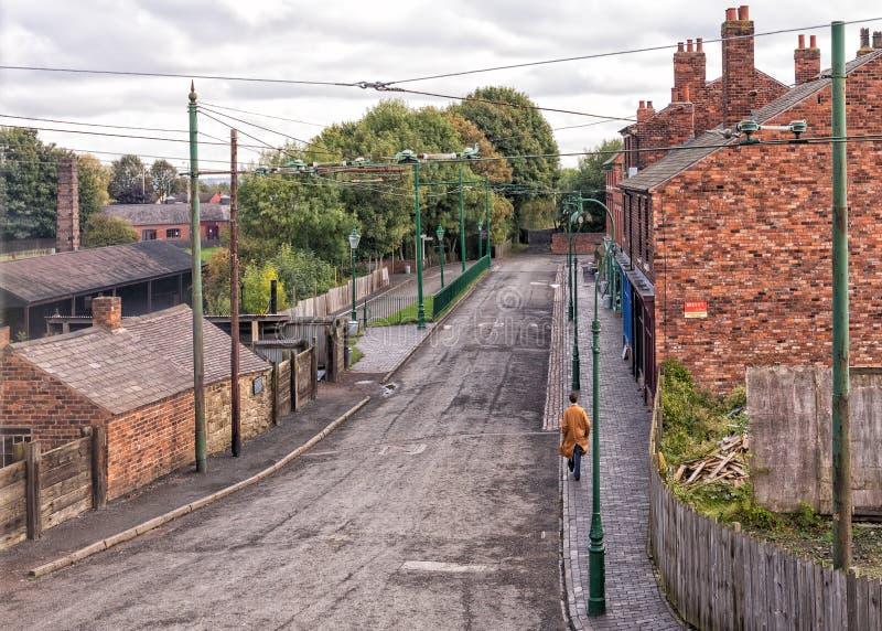 jaren '30weg in Dudley, West Midlands stock foto's