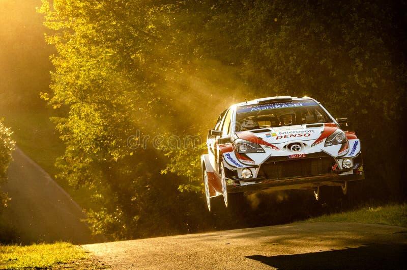 Jari-Matti Latvala and Miikka Anttila at ADAC Rally Germany royalty free stock photography