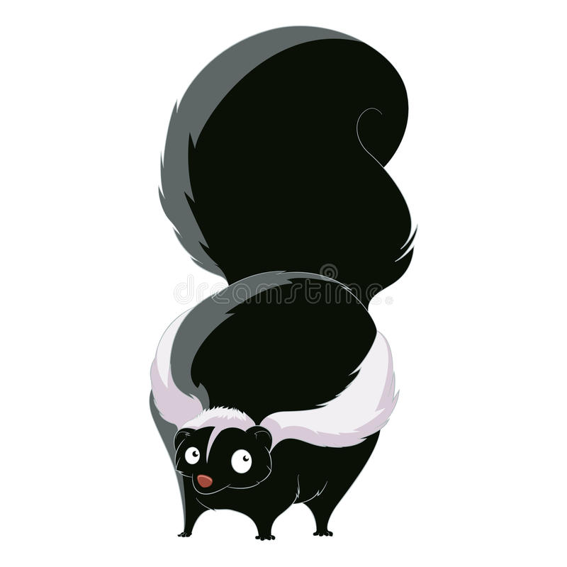 Jaritataca da gordura dos desenhos animados ilustração stock
