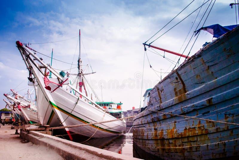 Jarkata, Indonesien, Hafen Sunda Kelapa stockfoto