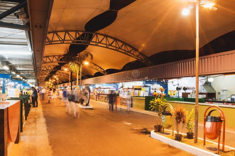 Jarmark znać jako Feira Centrala De Campo Grande obrazy royalty free