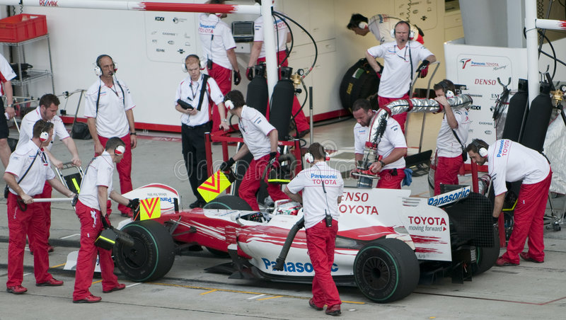 Jarno 2009 Trulli no Malaysian F1 Prix grande imagem de stock royalty free