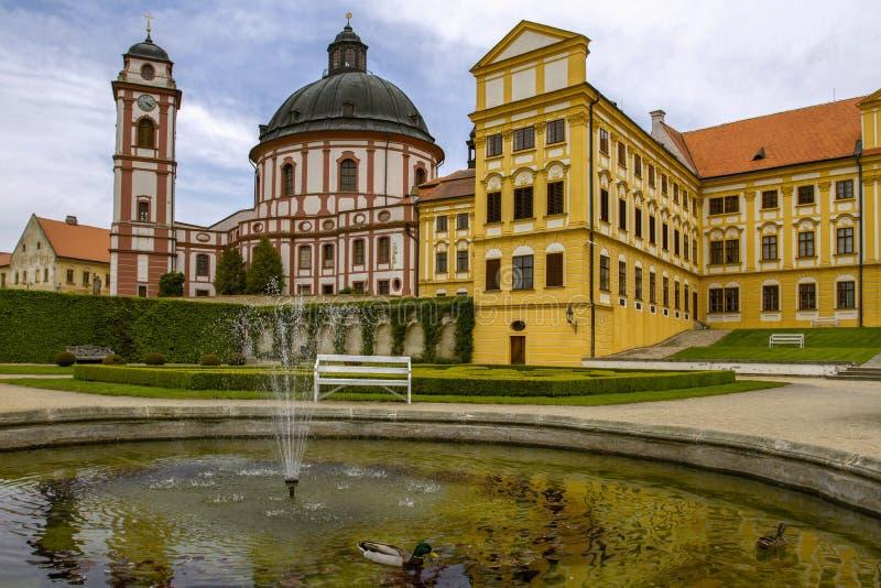 Jaromerice nad Rokytnou, repubblica Ceca Il 4 maggio 2019 Palazzo Jaromerice nad Rokytnou a partire dallo XVIII secolo Barocco e  fotografia stock libera da diritti