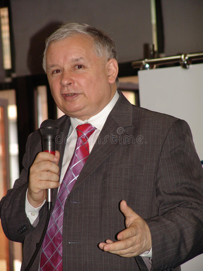 JAROSLAW KACZYNSKI - PRIME MINISTER OF POLAND stock photo