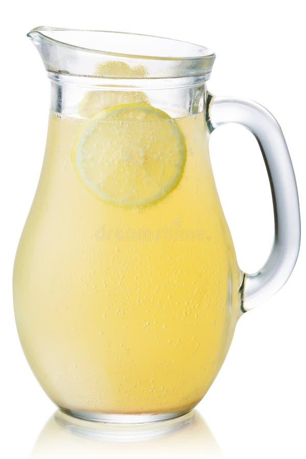 Jarra aislada, trayectorias de la limonada fotos de archivo