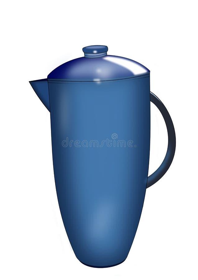 Jarra azul stock de ilustración