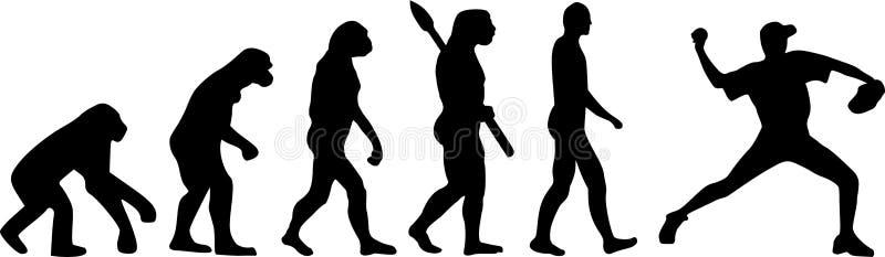 Jarra de la evolución del béisbol ilustración del vector