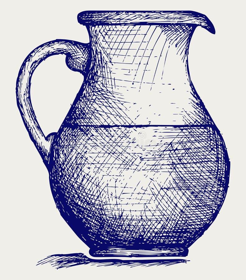 Jarra de la leche ilustración del vector