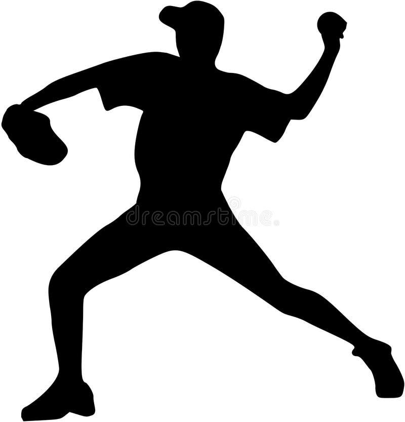 Jarra del jugador de béisbol libre illustration