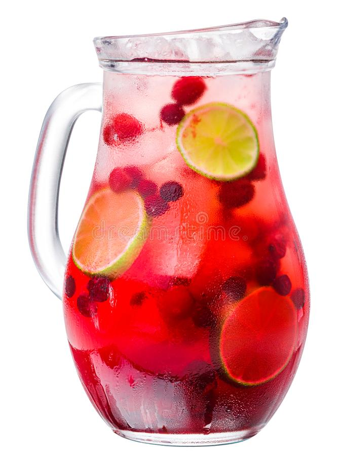 Jarra helada de la bebida de la cal del ar?ndano, trayectorias imagenes de archivo