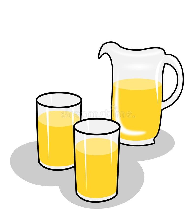 Jarra y dos vidrios libre illustration