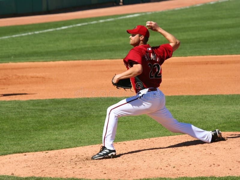 Jarro Aaron Heilman dos Diamondbacks do Arizona imagens de stock