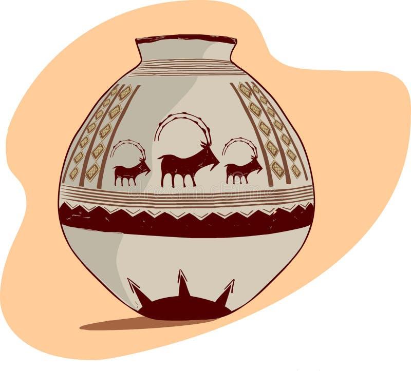 Jarro arqueológico stock de ilustración