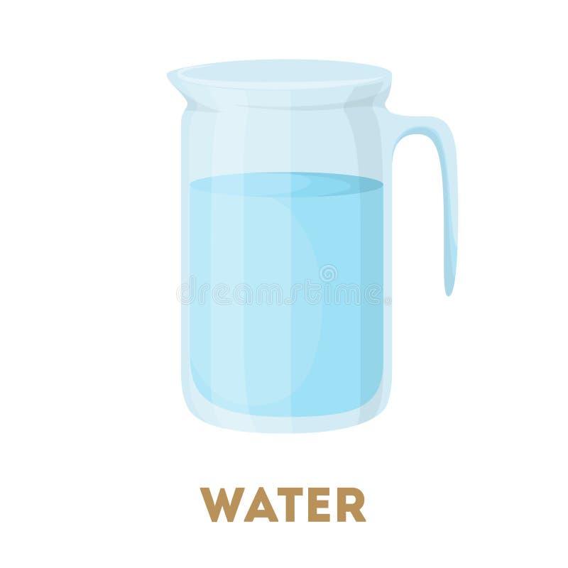 Jarro de água isolado ilustração royalty free
