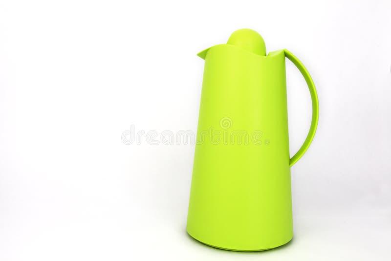 Jarro de água plástico verde foto de stock