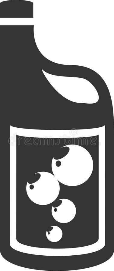 Jarro del jabón con la manija plástica - etiqueta de las burbujas de jabón libre illustration