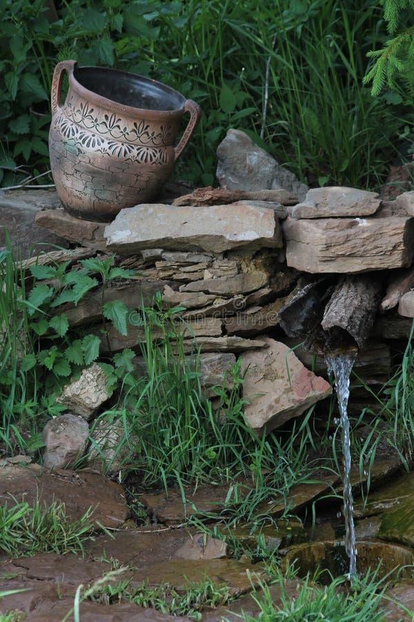 Jarro, paisagem, mola imagem de stock