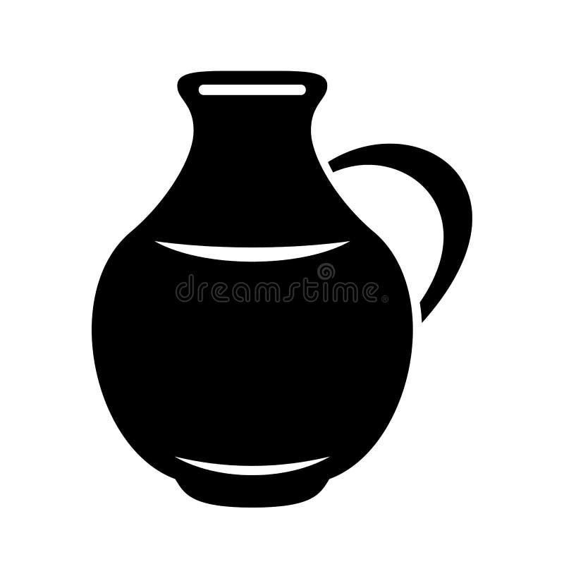 Jarro para el bote de la leche o del agua Imagen del logotipo de la jarra libre illustration