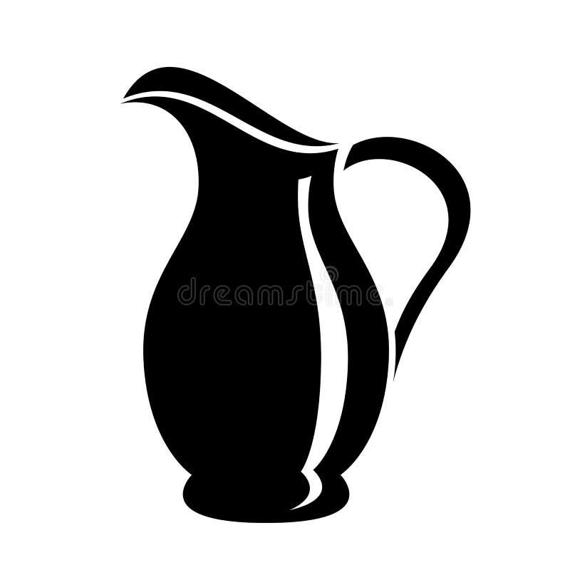 Jarro para el bote de la leche o del agua Imagen del logotipo de la jarra ilustración del vector