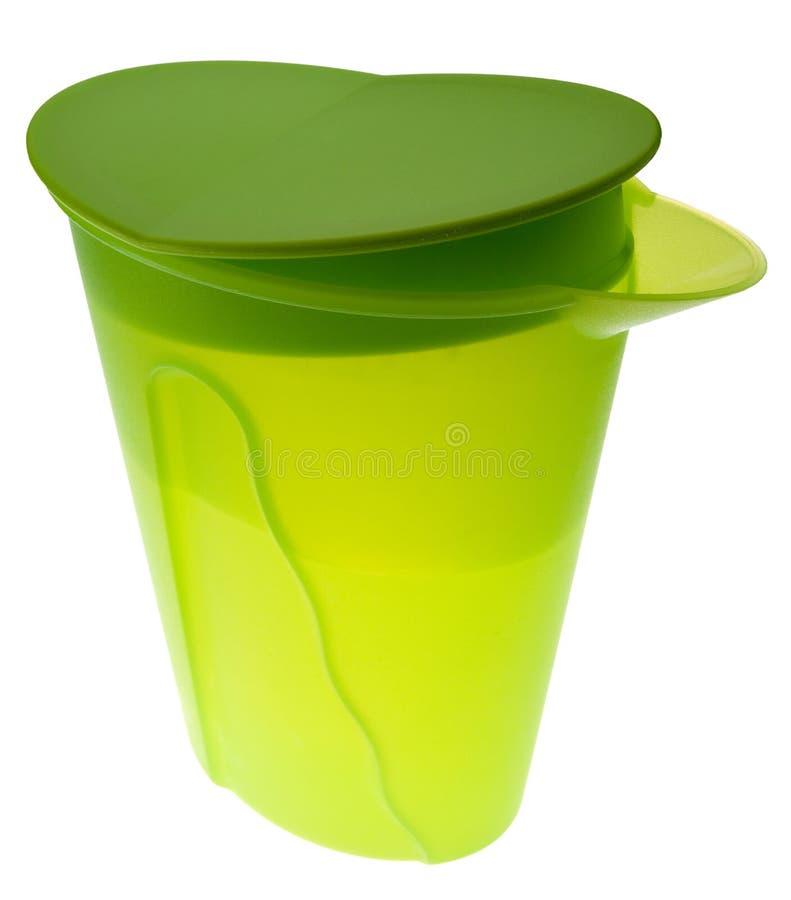 Jarro plástico com água imagens de stock