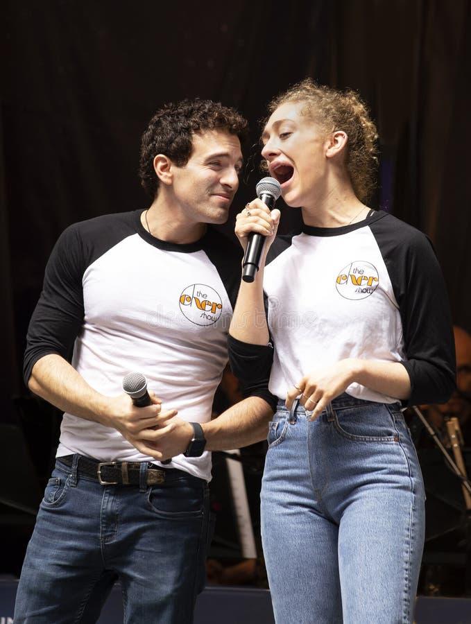 Jarrod Spector & Micaela Diamond bij Sterren in de Steeg royalty-vrije stock foto