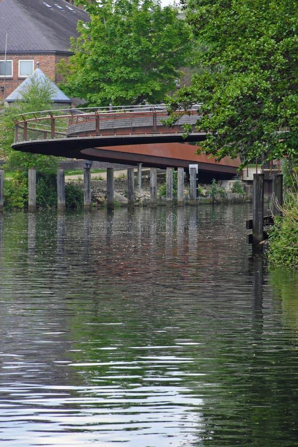 Jarrold bro, flod Wensum, Norwich, UK arkivfoto