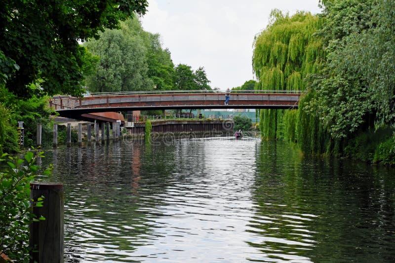 Jarrold most, Rzeczny Wensum, Norwich, Anglia zdjęcie royalty free