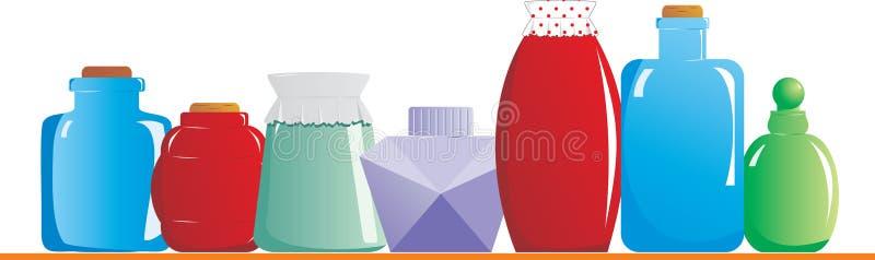 jars полка иллюстрация вектора