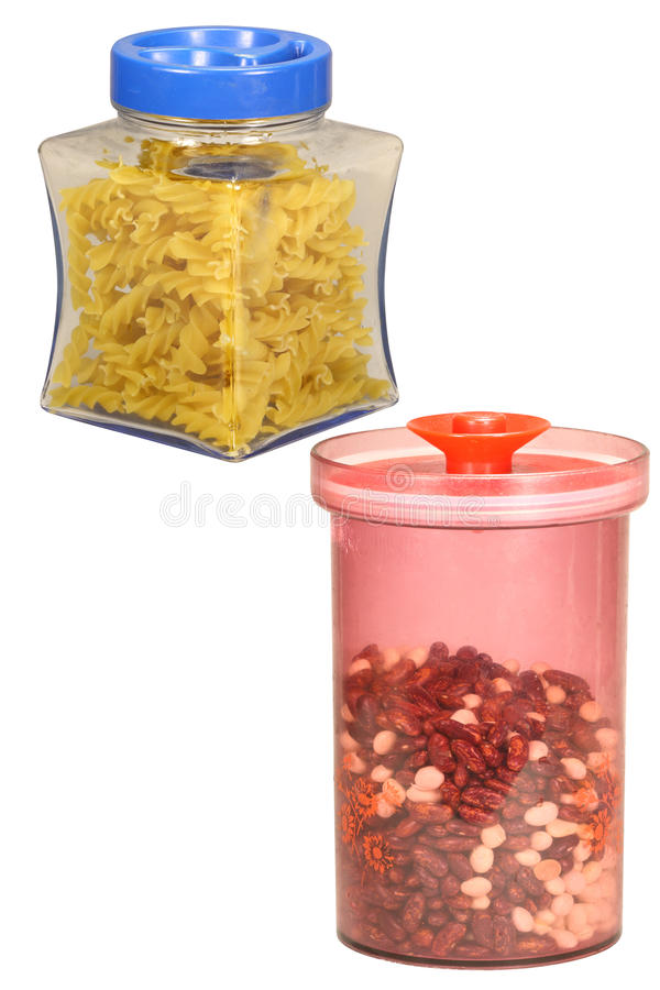 Jars with cover stock images