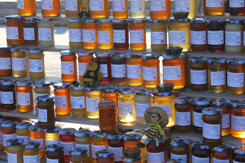 Download Jars of honey editorial stock photo. Image of honey, cell - 27772273