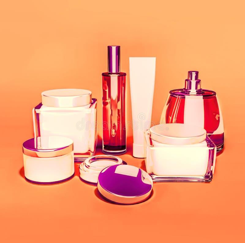 Jars of moisturizing face cream. royalty free stock image