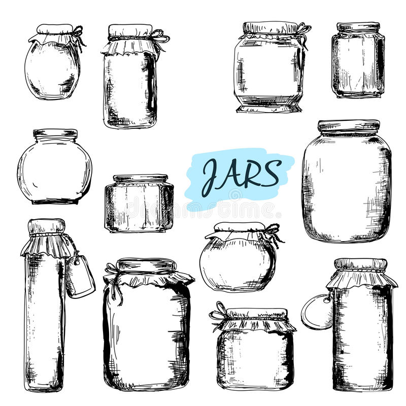 Free Jars. Set Of Illustrations Royalty Free Stock Image - 38191796