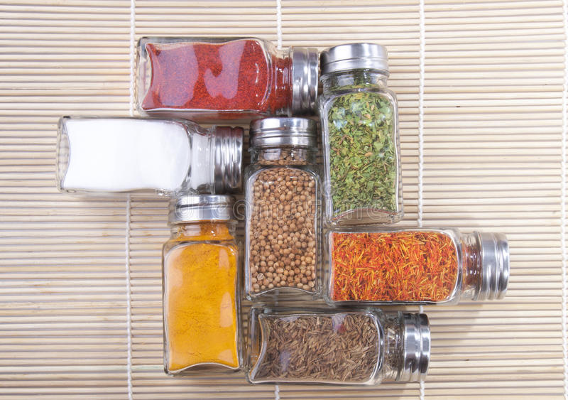 Download Jars of spices stock image. Image of color, bottle, container - 24744479