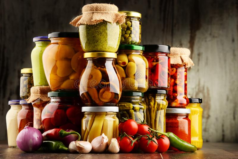 Download Jars With Variety Of Pickled Vegetables. Stock Photo - Image of balanced, organic: 110758426